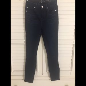 7 FOR ALL MANKIND HIGH WAIST ANKLE SKINNY BLUE 25